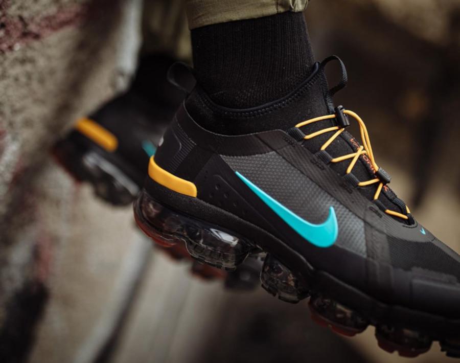 Nike Air VaporMax 2019 Utility noire jaune et turquoise (2)