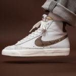 Nike Blazer Mid 77 Vintage 'Python Snakeskin' Vast Grey Red Bronze