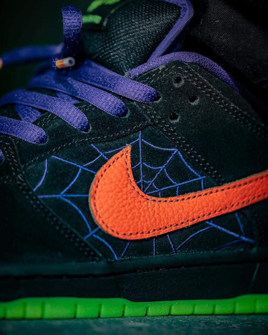 Nike Dunk Low Skateboarding noire violet et orange BQ6817-006 (2-1)