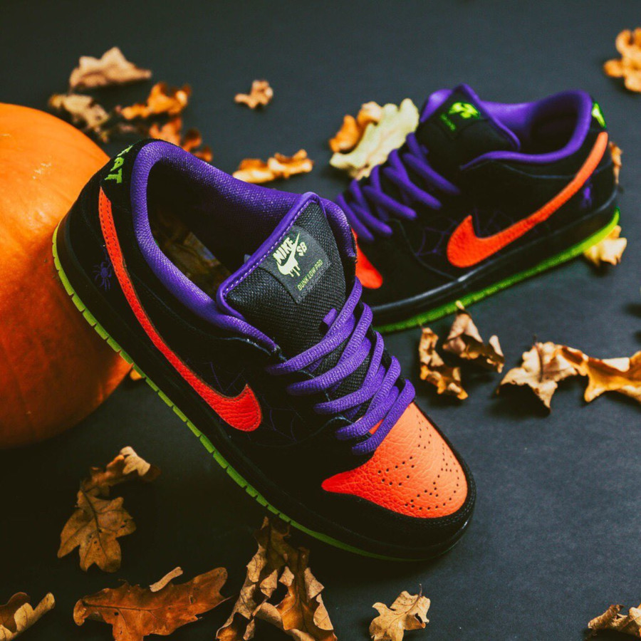 Nike Dunk Low Skateboarding noire violet et orange BQ6817-006 (3)