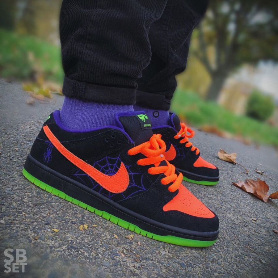 Nike Dunk Low Skateboarding noire violet et orange BQ6817-006 (7)