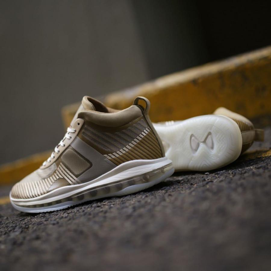 Nike Lebron James X John Elliott dorée et marron clair AQ0114-200 (5)