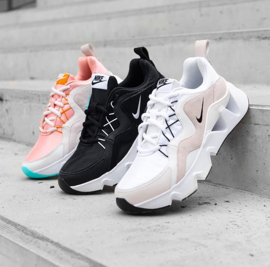 Nike RYZ 365 blanche blanc cassé et noire BQ4153-100 (1)
