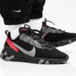 Nike React Element 55 'Off Noir Gunsmoke Black University Red'