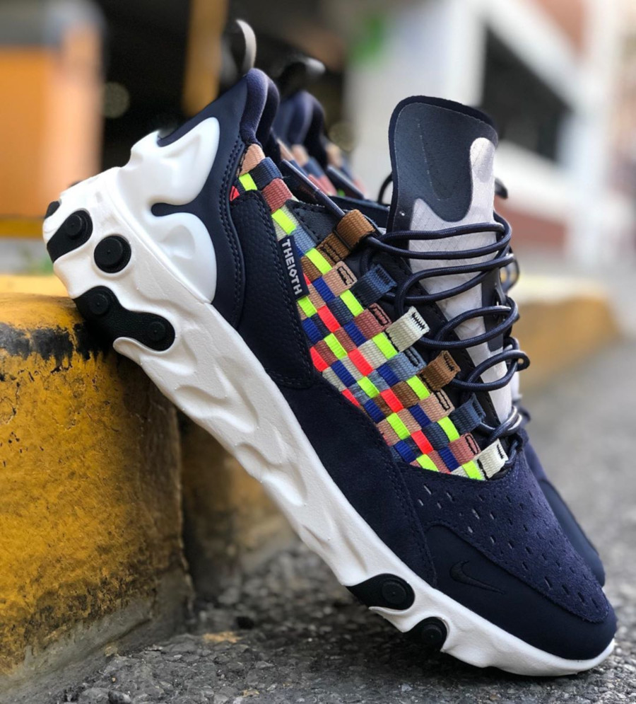 Nike React Sertu Woven bleu marine et multicolore (AT5301-400) (1)