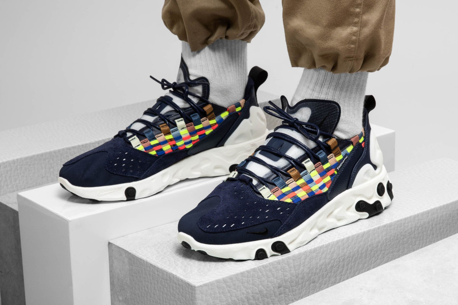 Nike React Sertu Woven bleu marine et multicolore (AT5301-400) (4)