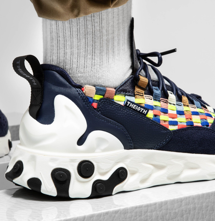 Nike React Sertu Woven bleu marine et multicolore (AT5301-400) (5)
