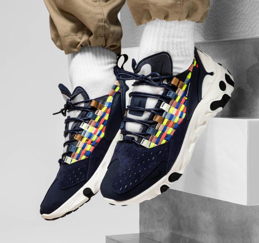 Nike React Sertu Woven bleu marine et multicolore (AT5301-400) (6)