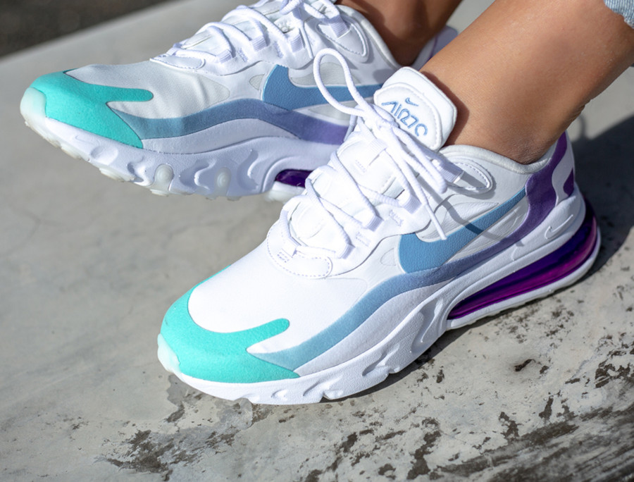 air max 270 blanche et turquoise