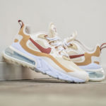 Nike Wmns Air Max 270 React 'Equestrian' Team Gold Cinnamon Pale Ivory