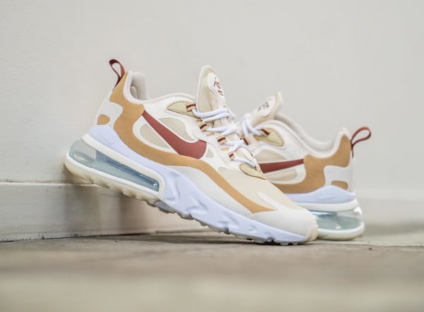 Nike Womens Air Max 270 React beige marron rouge AT6174-700 (6)