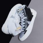 Sacai x Nike Blazer Mid 'White & Black Wolf Grey'