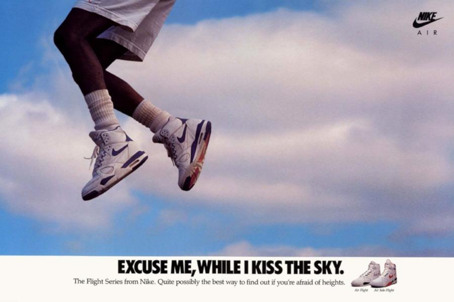 Publicité Flight Series Excuse me while i kiss the sky