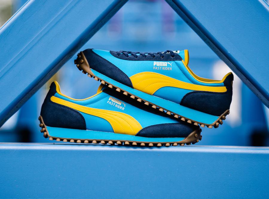Puma Fast Rider bleu et jaune 372876-02 (1)