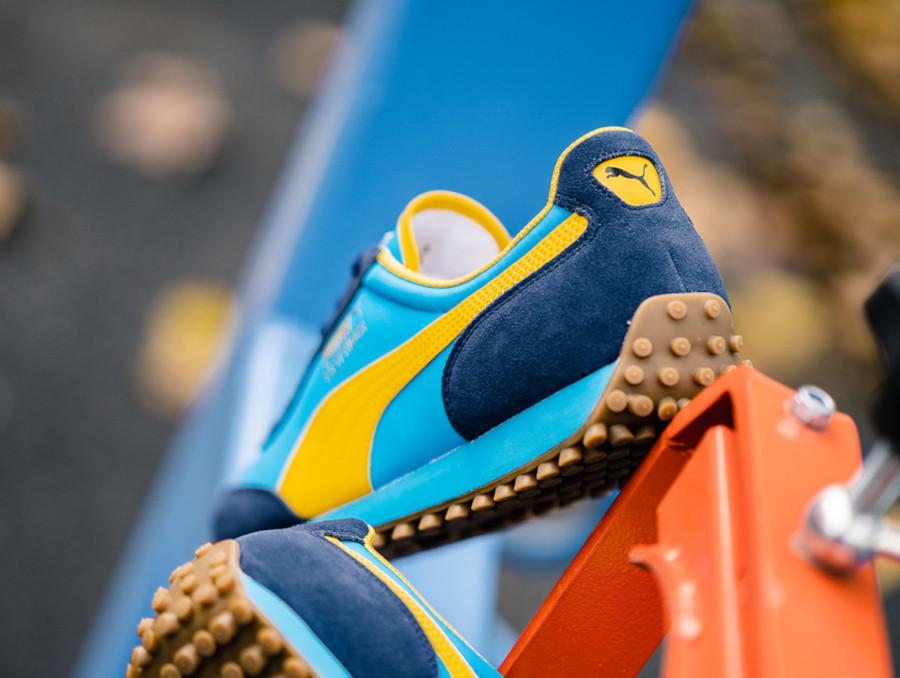 Puma Fast Rider bleu et jaune 372876-02 (2)