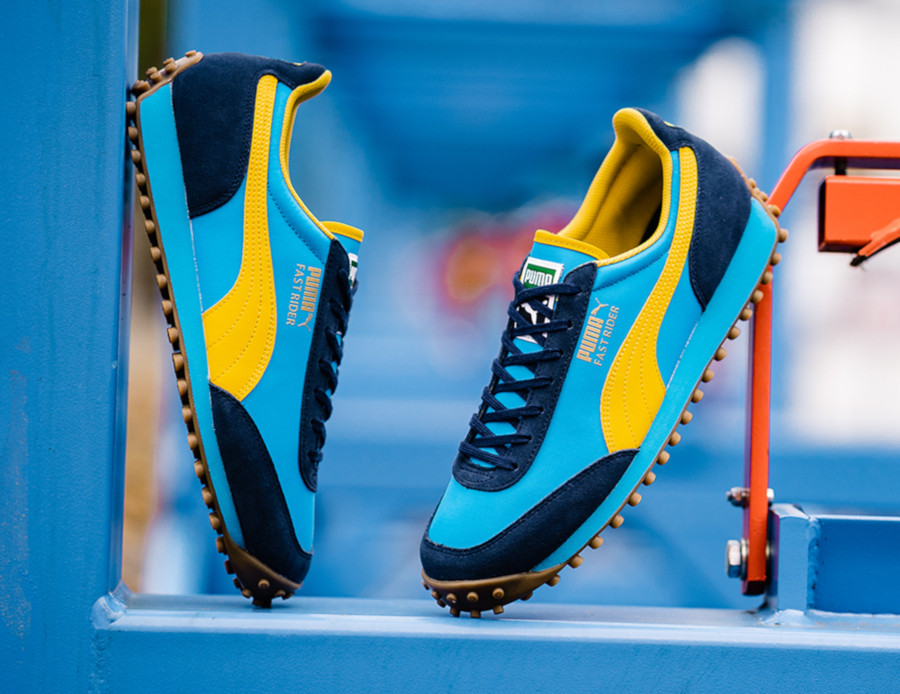 Puma Fast Rider bleu et jaune 372876-02 (3)
