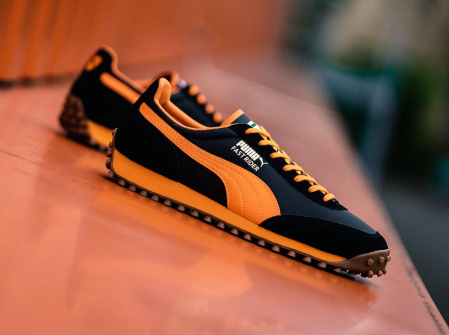 Puma Fast Rider noire dorée et orange 372876-01 (1)