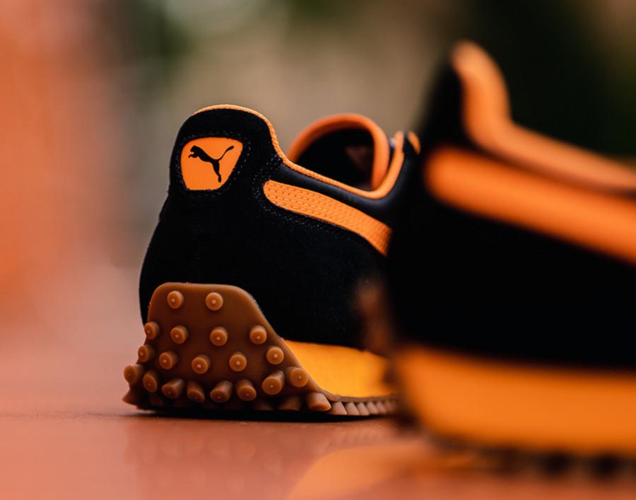 Puma Fast Rider noire dorée et orange 372876-01 (3)