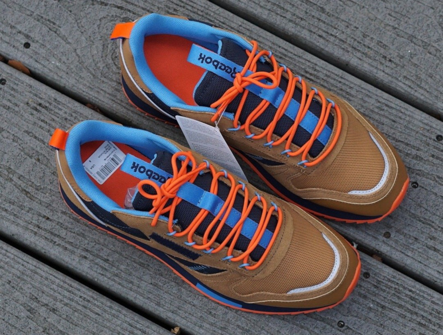 Reebok Classic Leather Ripple marron orange et bleu marine (EG8707) (1)