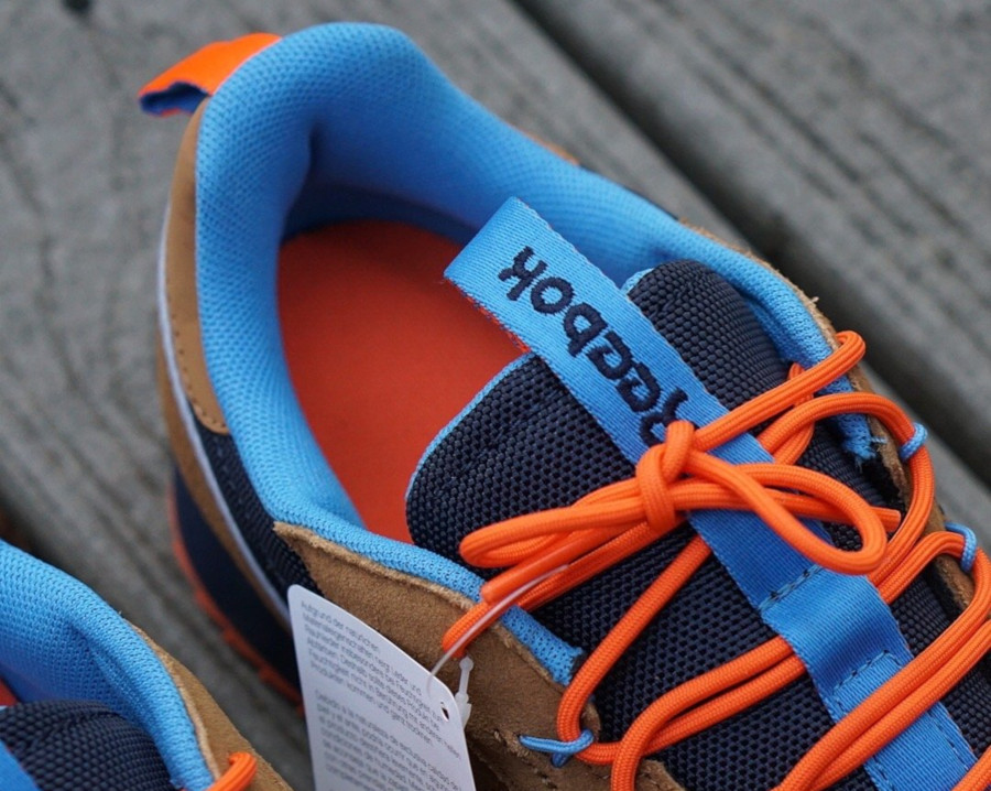 Reebok Classic Leather Ripple marron orange et bleu marine (EG8707) (2)