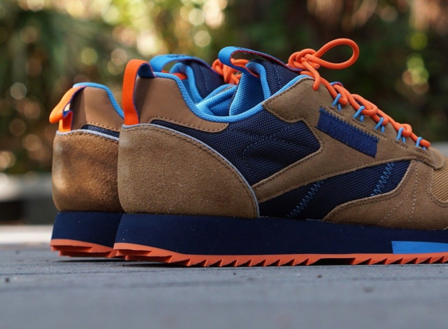 Reebok Classic Leather Ripple marron orange et bleu marine (EG8707) (5)