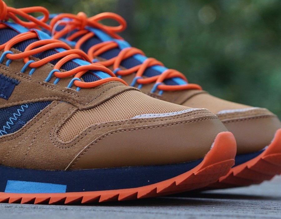 Reebok Classic Leather Ripple marron orange et bleu marine (EG8707) (6)