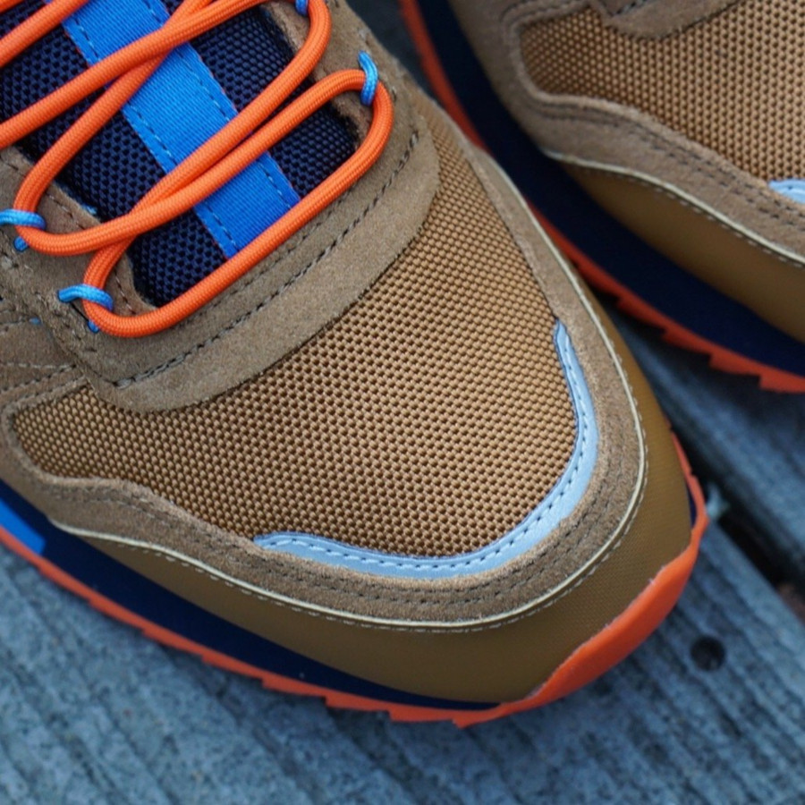 Reebok Classic Leather Ripple marron orange et bleu marine (EG8707) (7)