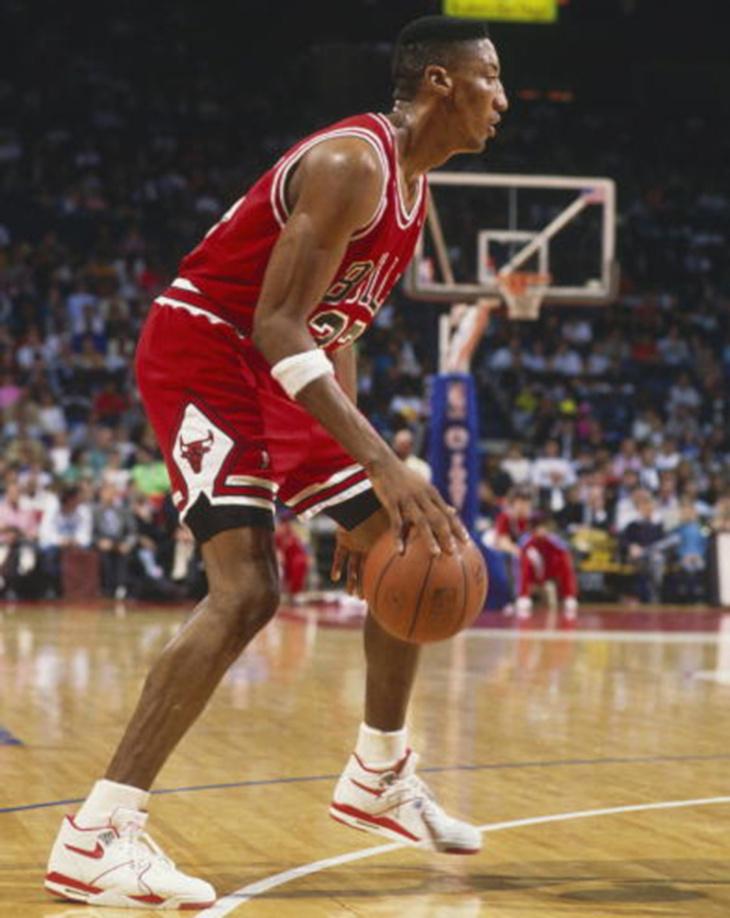 Scottie Pippen en Nike Air Flight 89 White Red