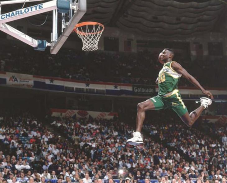 Shawn Kemp en Nike Air Flight 89