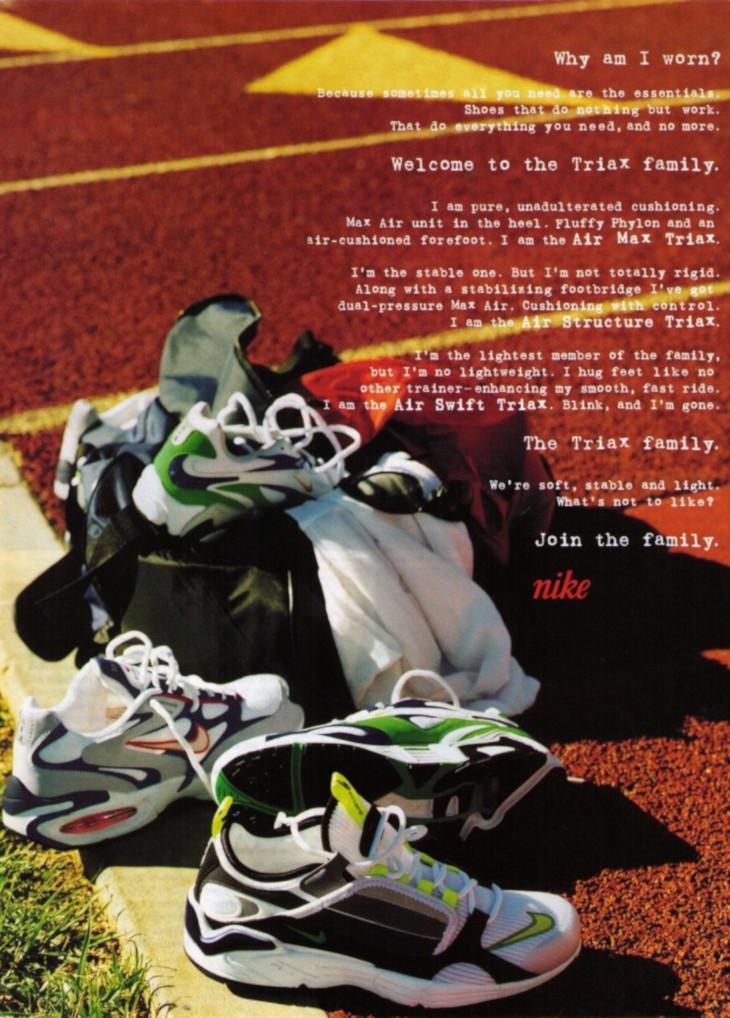 publicité Nike Triax Family 1998