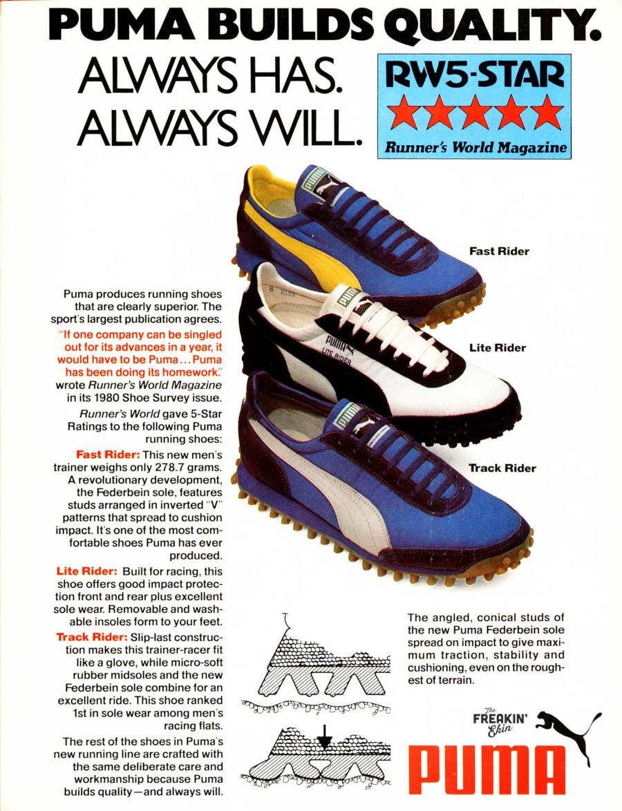 publicité puma fast rider année 80