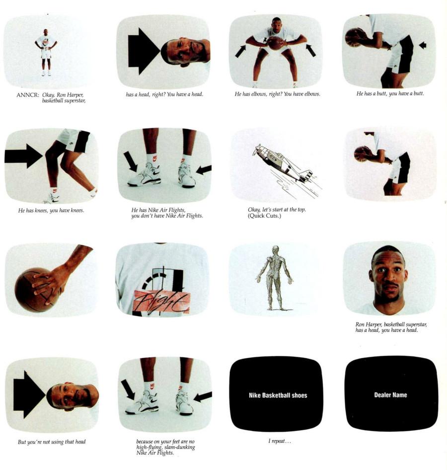 publicité vintage Ron Harper x Nike Air Flight 89