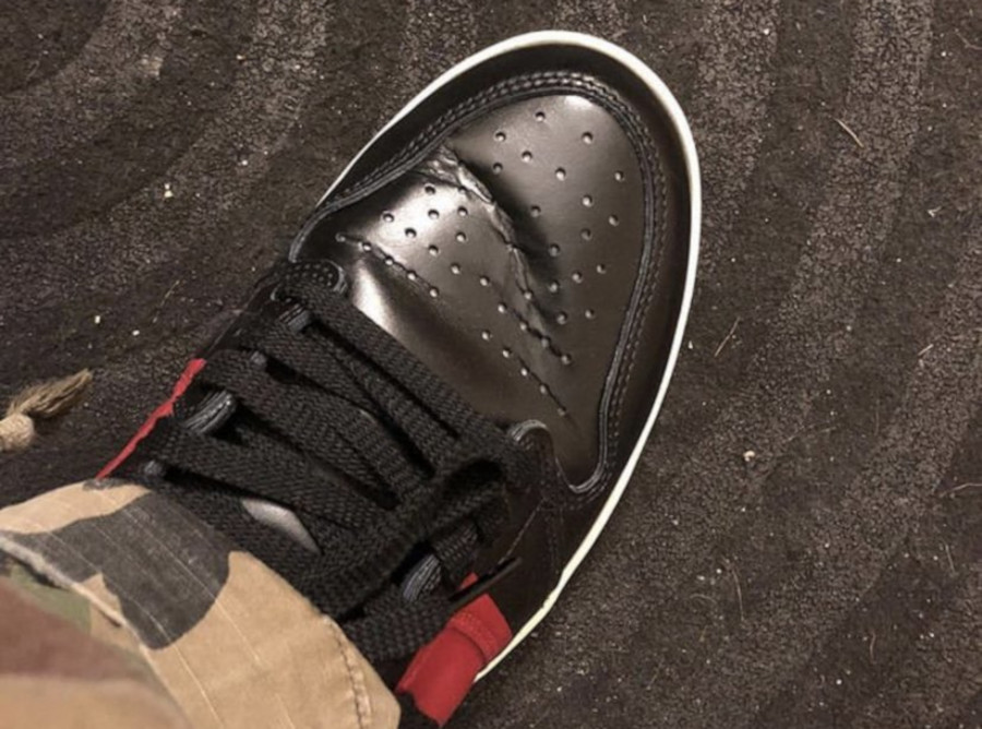 175 dollars la Air Jordan 1 Couture (cuir plié toe box) - @sneakercruz