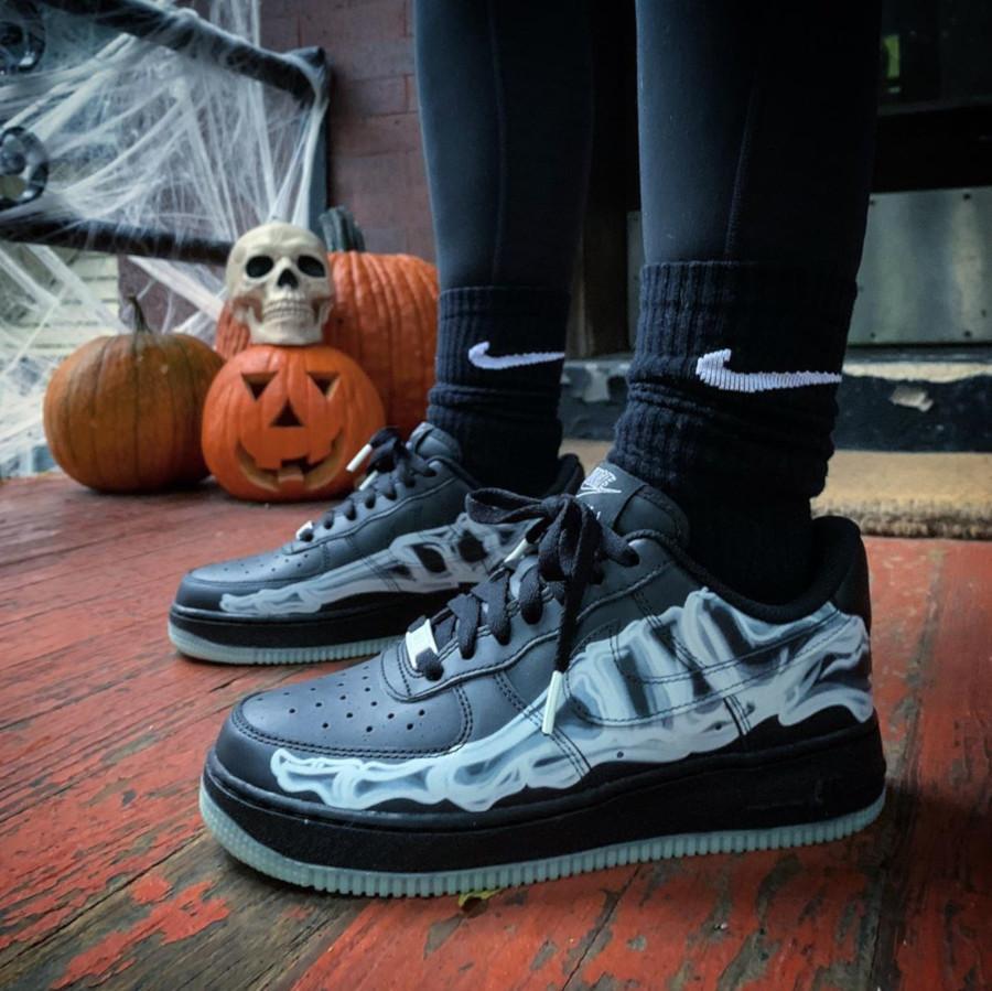 2019 - Nike Air Force 1 Black Skeleton - @sophzilla