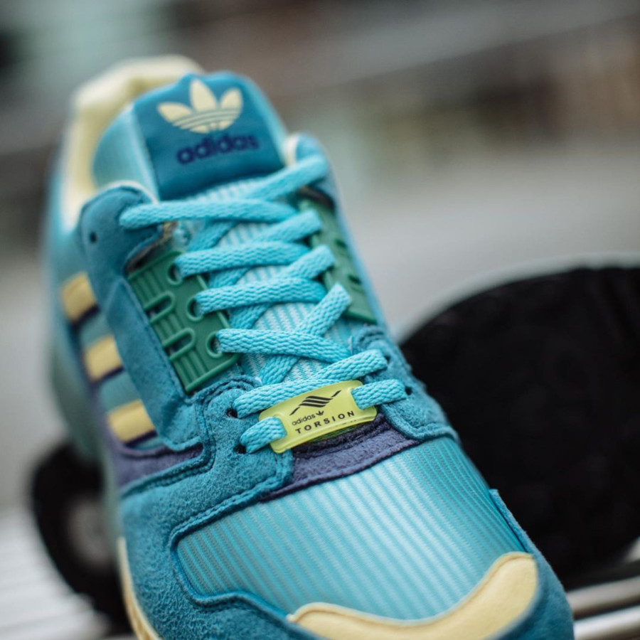 Adidas ZX 8000 bleu turquoise et jaune (4)