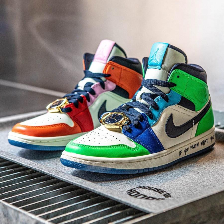 Air Jordan 1 Mid ME multicolore (1)