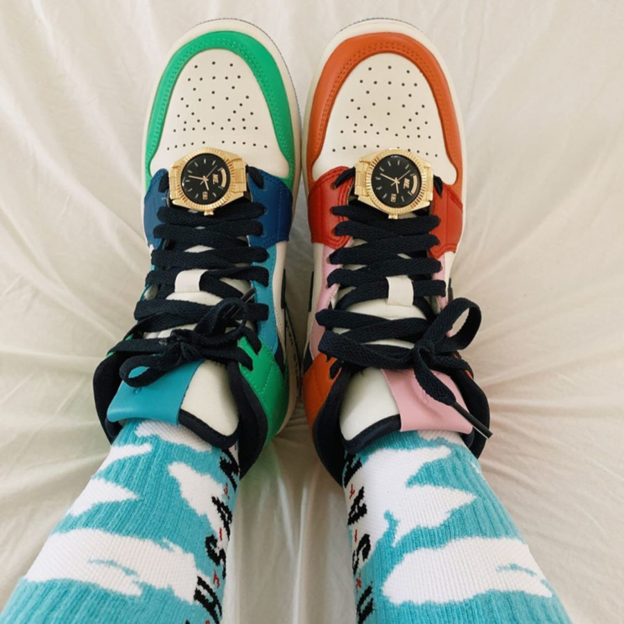Air Jordan 1 Mid ME multicolore (4)