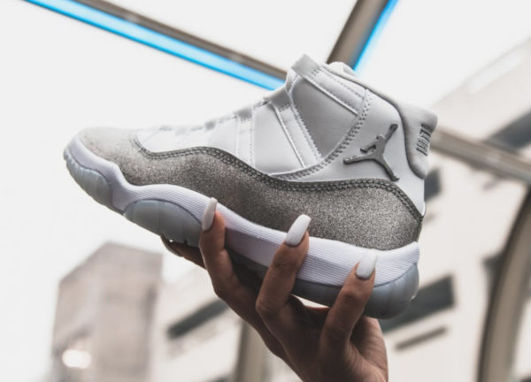 Air Jordan 11 Heiress Vast Grey Silver Metallic