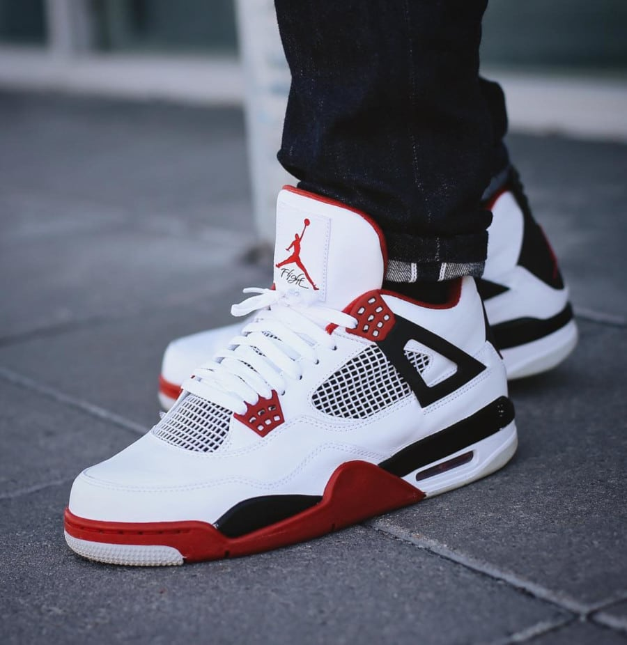 Air Jordan 4 Retro Fire Red - @groovy__p