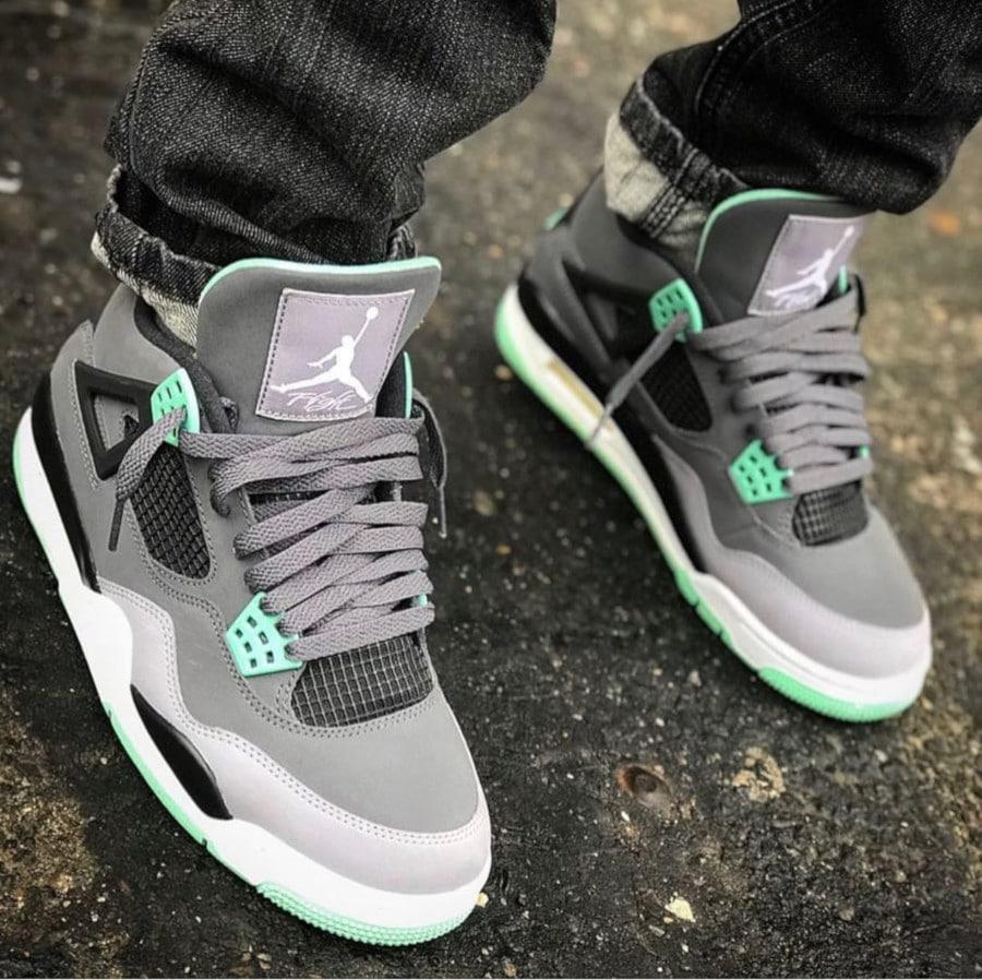 Air Jordan 4 Retro Green Glow - @junkieforkixx