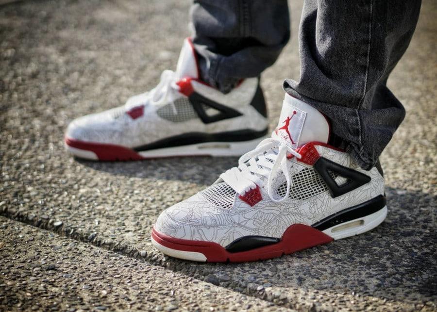 Air Jordan 4 Retro Laser Fire Red - @drumatthias