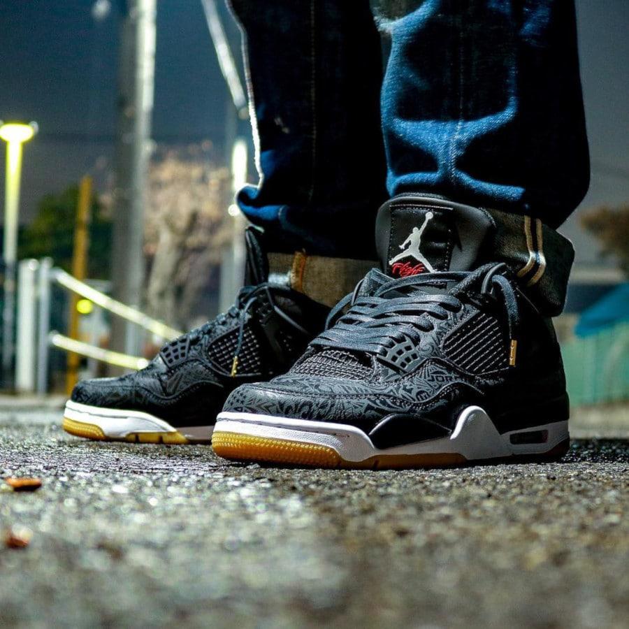 Air Jordan 4 Retro SE Laser Black Gum 30th Anniversary - @flight0105