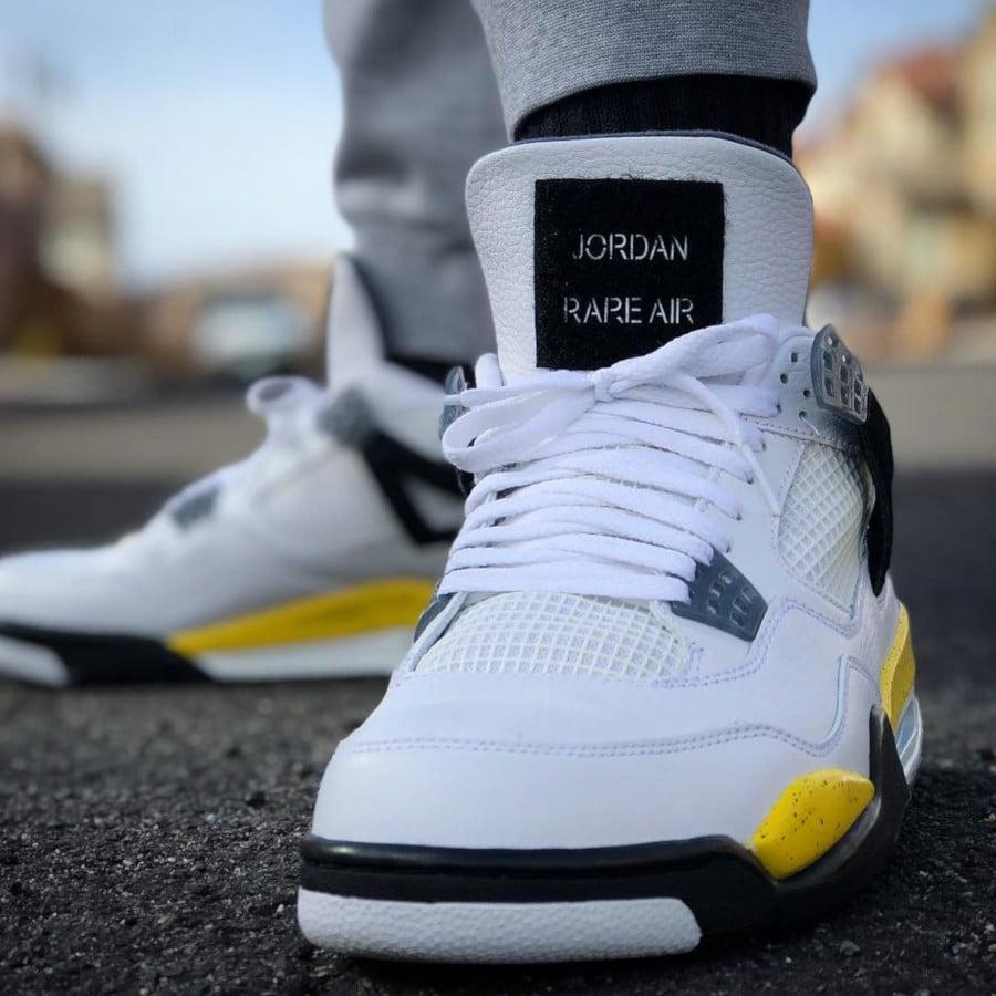 Air Jordan 4 Retro Tour Yellow Rare Air - @jjkkzomm85