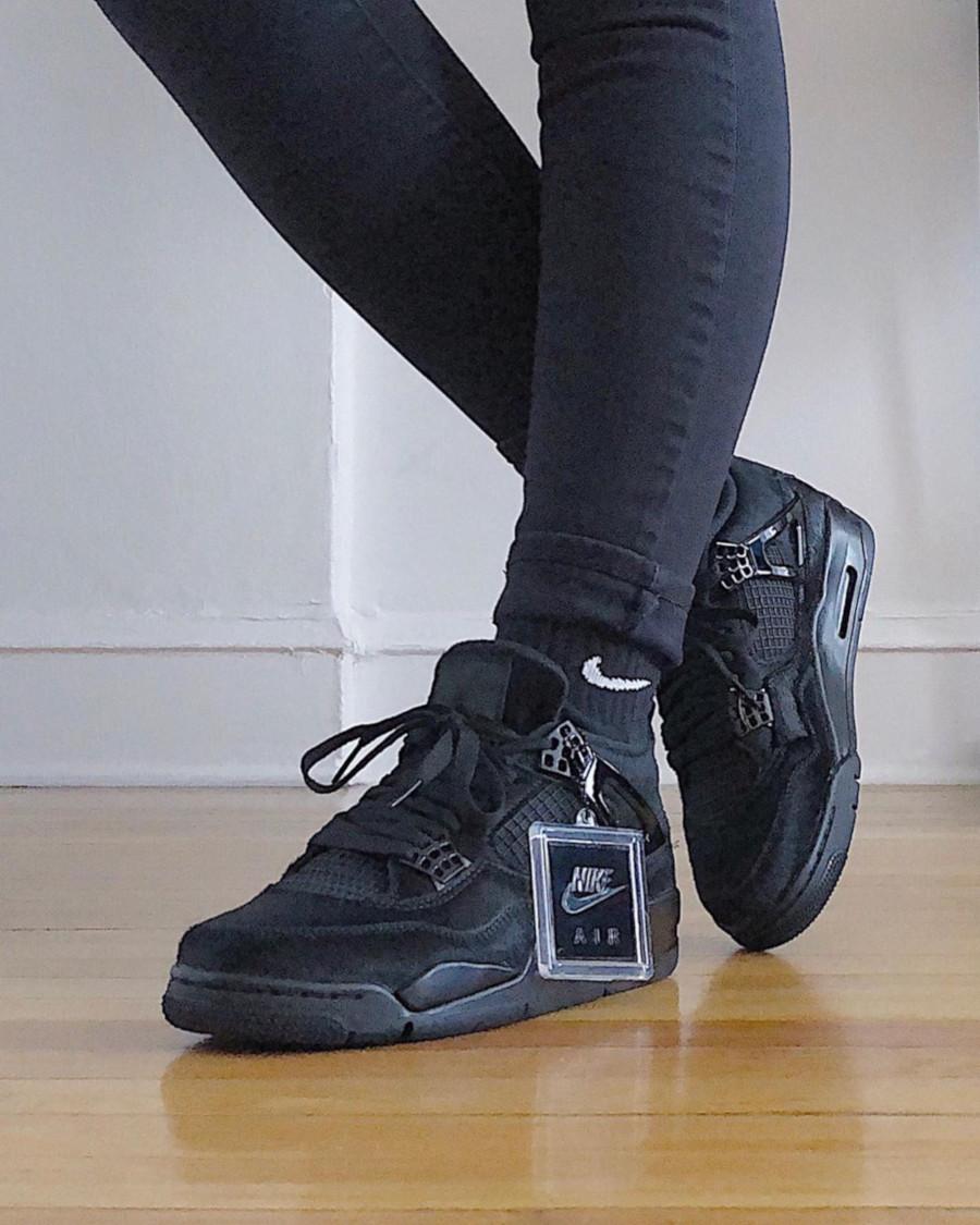 Air Jordan 4 Retro W Olivia Kim Black Cat CK2925-001