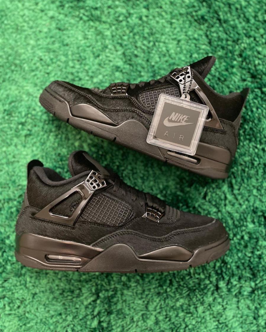 Air Jordan IV femme en poils noires (5)