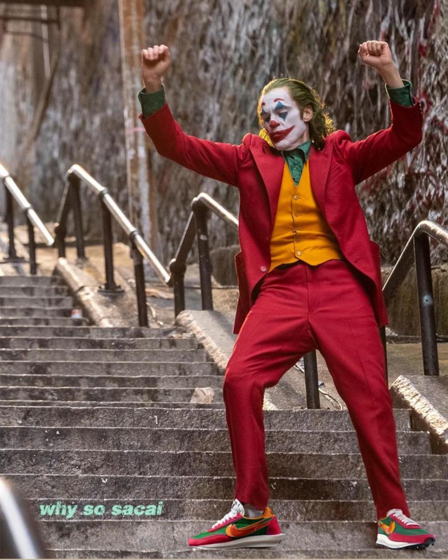 Joker (Joaquin Phoenix ) en Sacai x Nike LDwaffle - @brucehatoo