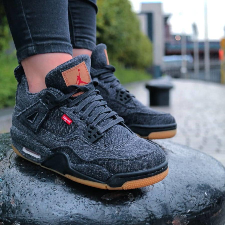 Levis x Air Jordan 4 Retro Black - @collkill