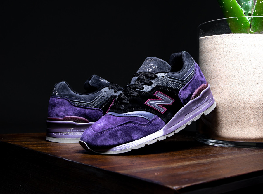 New Balance M 997 en suède violet noir et gris (1)