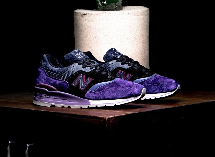 New Balance M 997 en suède violet noir et gris (2)