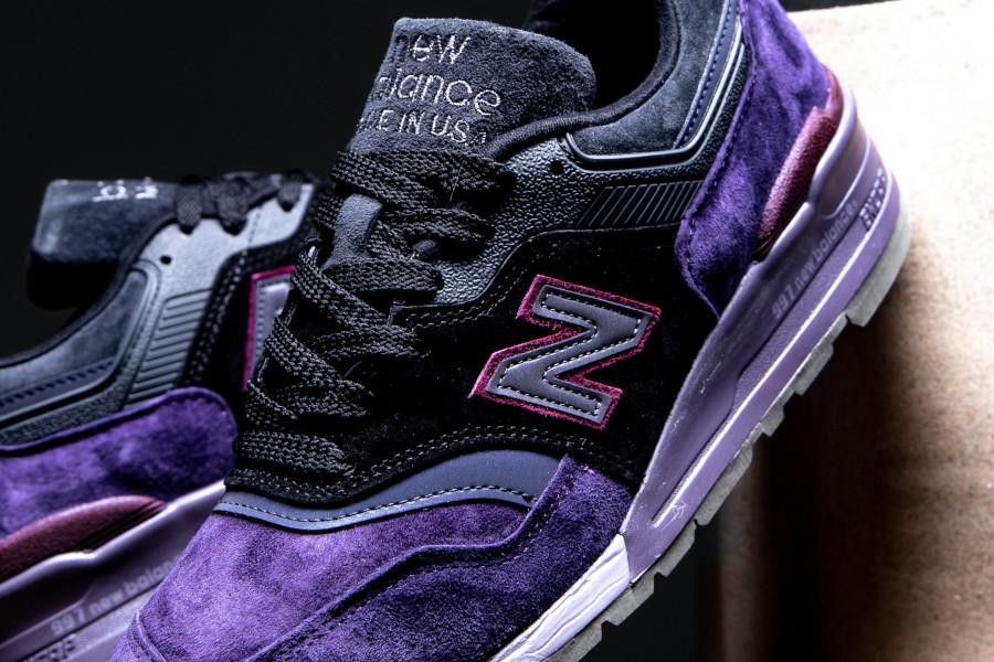 New Balance M 997 en suède violet noir et gris (4)